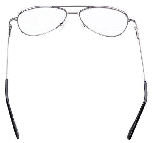 con Piloto marco oro resorte Eyekepper 75 Gafas 0 de estilo metal de bisasgras Marrón fY1f6qSWwT