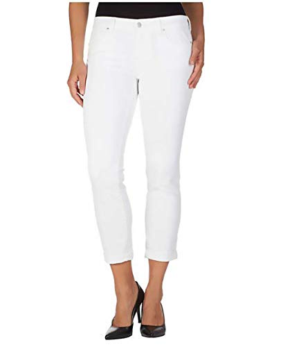 (Jessica Simpson Womens Rolled Crop Skinny Jean Soft Sculpt / (10/30) / White)