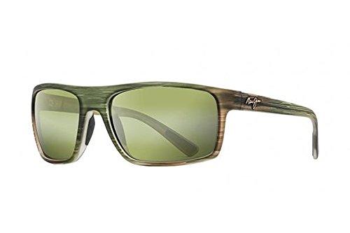 Maui Jim Unisex Byron Bay Matte Green Stripe Rubber/Maui Ht - Sunglasses Maui Jim Green