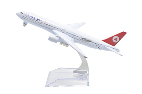 TANG DYNASTY(TM) 1:400 16cm Turkish Airlines Boeing B777 Metal Airplane Model Plane Toy Plane - Airlines International