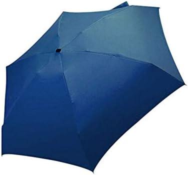 Mdsfe Paraguas Sun Rain Mujer Paraguas Plano y liviano Sombrilla Sombrilla Plegable Sombrilla Mini Sombrilla Tamaño pequeño Tienda fácilmente sombrilla - Azul Marino, a1