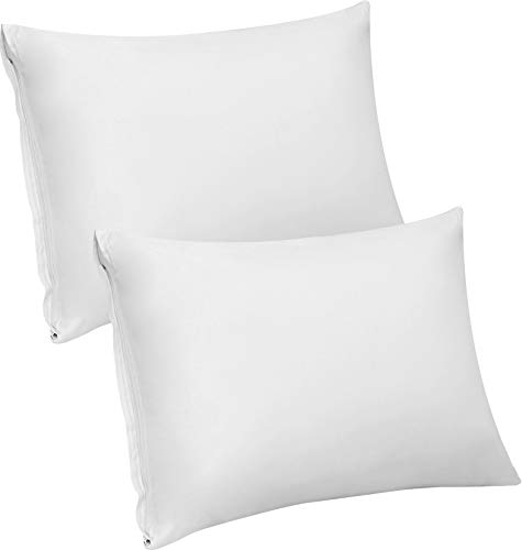 Buy Discount Utopia Bedding Premium Cotton Zippered Pillow Cases/Covers 300 Thread Count Pack of 2 E...