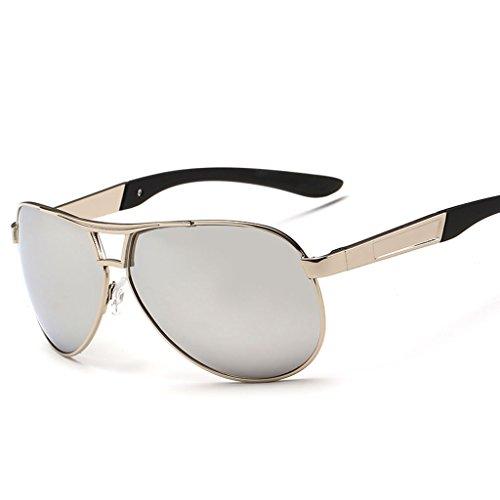 de C Gafas Gafas de de Rana Hipster B Conducción Gafas Cool Sol Hombre Polarizador Espejo Driver de Color Sol Espejo Sol Espejo Coating rtww1qv