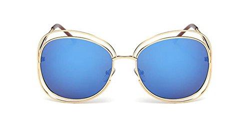 métallique de rond Lennon en du vintage retro polarisées inspirées Film lunettes style soleil Bleu cercle PwqRqd1