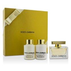Dolce Gabbana Lotions (Dolce & Gabbana 3 Piece The One Coffret Set)