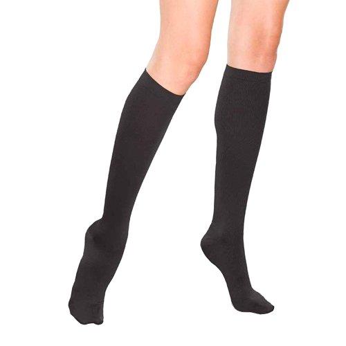Therafirm  Women's Support Trouser Socks - 15-20mmHg Mild Compression Dress Socks (Black, XL) ()