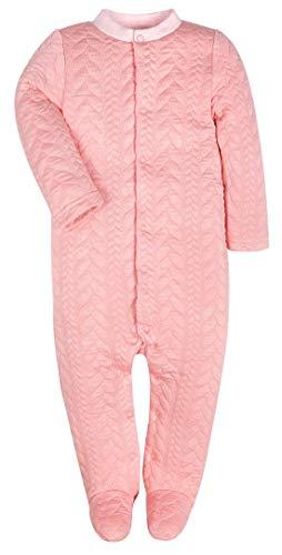 - Baby Boys Girls Warm Long-Sleeve Footed Pajamas Sleeper Rompers(Pink Stripe,12-18M)
