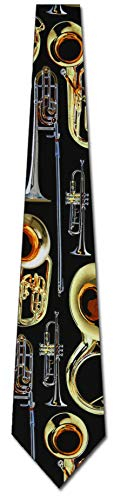 Brass Instruments Tie Mens Necktie by Three Rooker