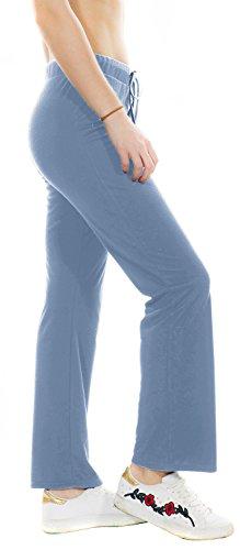 Megan apparel Womens Modal Comfy Drawstring Flex Boot Cut Yoga Pants Workout Running 4 Way Stretch