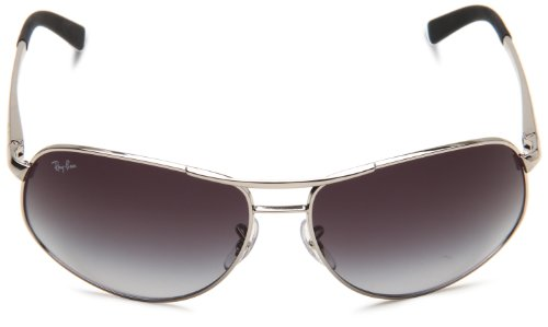 ae8670f879e Ray-Ban RB3387 - SILVER Frame GRAY GRADIENT Lenses 64mm Non-Polarized   Amazon.ca  Clothing   Accessories