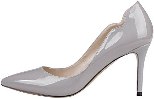 Calaier Vrouwen Cajust 8.5cm Stiletto Pompen Schoenen Slip Grijs