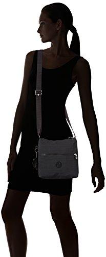 Kipling Zamor Essential, Bolso De Hombro para Mujer Negro (Dazz Black)