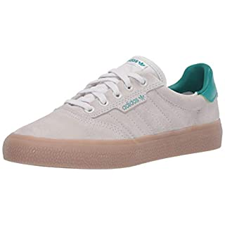 adidas Originals Men's 3MC Regular Fit Lifestyle Skate Inspired Sneakers Shoes, Chalk White/Glory Green/Gum,4