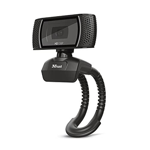 TRUST Webcam con MICROFONO TRINO Video HD 720P con Boton para Foto 8 MGPX USB Negra
