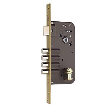 YALE 3010095 - Cerradura de embutir de un punto de cierre, 8912-bc/hs-6/80: Amazon.es: Bricolaje y herramientas