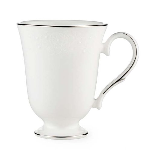 (Lenox Floral Veil Bone China Platinum Banded Accent Mug)
