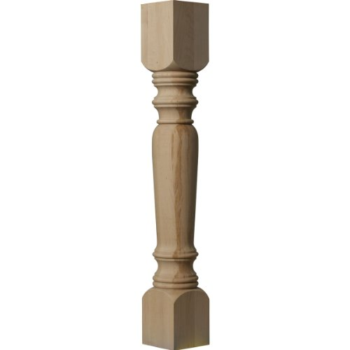 Ekena Millwork COL05X05X35LERW 5-Inch W x 5-Inch D x 35 1/2-Inch H Legacy Tapered Cabinet Column, - Tapered Wood Post