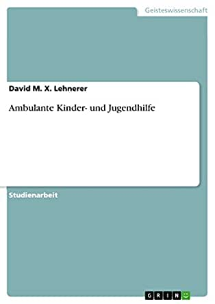 Ambulante Kinder- und Jugendhilfe (German Edition) eBook: David ...