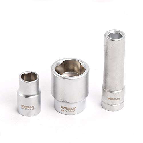 Compatible for 3PC 1/2 Triangular Multi-Toothed Socket and Tool Nuts for Bosch Fuse Board Injection Pump Diesel
