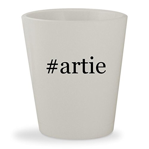 #artie - White Hashtag Ceramic 1.5oz Shot Glass