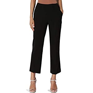TheMogan Mid Or High Waist Cropped Skinny Or Wide Leg Trouser Pants Culottes