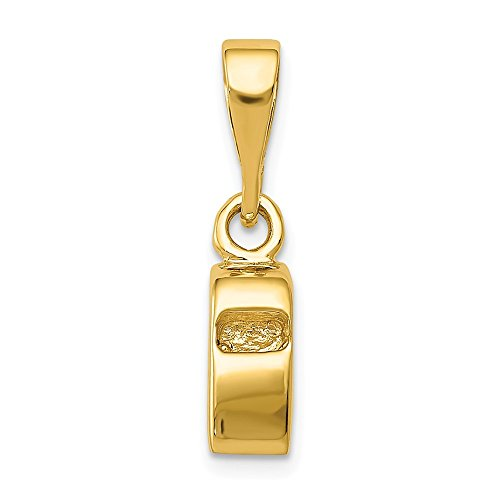 14k Yellow Gold Sports Whistle Pendant