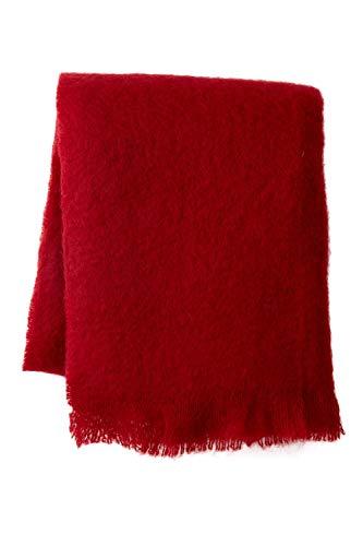 Mohair Wool Throw - Belle Epoque Mohair Throw, 50X70, Merlot