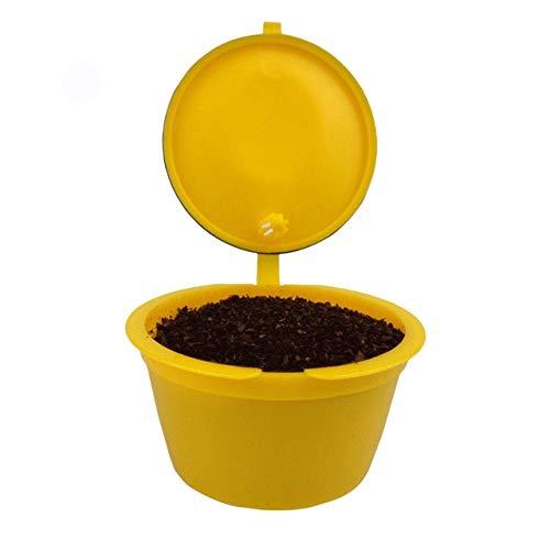 BeesClover ステンレススチールコーヒーフィルターバスケット 再利用可能 150回カプセルNescafe Dolce Gustoツール イエロー WX_FQ1HO_WQCIC8GM-US-0305-shi  イエロー B07PGDFJCP
