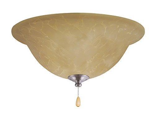 (Emerson Ceiling Fans LK71LEDBS Amber Parchment L.E.D. Light Fixture for Ceiling Fans, LED Array, Brushed Steel by)