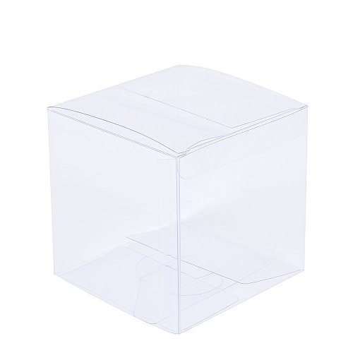 ZOOYOO Transparent Gift Box/Clear Plastic Box for Party favors, Weddings, Packaging (4in*4in*4in)-30PCS