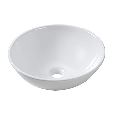 Lordear 13x13 Round Bowl Modern Bathroom Above White Porcelain Ceramic Vessel Vanity Sink Art Basin
