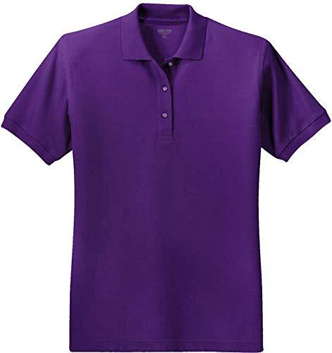 Joe's USA Ladies Short Sleeve Polo Shirt-Purple-XL