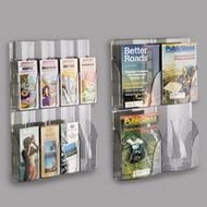 Rubbermaid-Self-Advance Wall-Mount Magazine Pocket Display Panel, 4 2w x 2h Pockets (RUB66095) Category: Literature and Magazine Files for Walls and Partitions