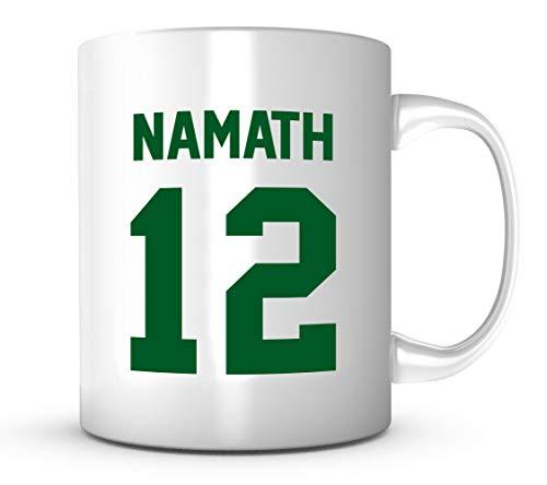 - Joe Namath Mug - Jersey Number Football Coffee Cup