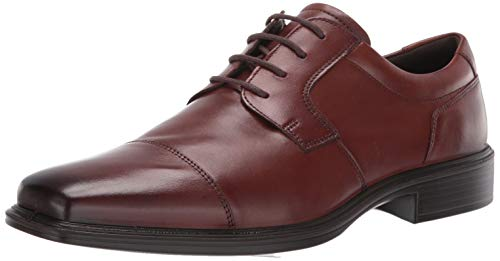ECCO Men's Minneapolis Cap Toe Tie Oxford Cognac 42 M EU (8-8.5 US) (Toe Oxford Tie)