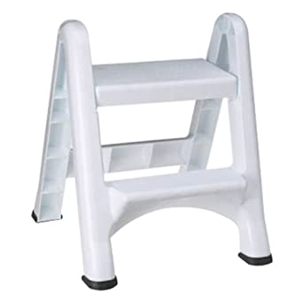 Rubbermaid 4209 Ez Step Folding Stool 2 Step White