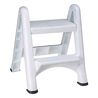 Amazon Com Rubbermaid 4209 Ez Step Folding Stool 2 Step