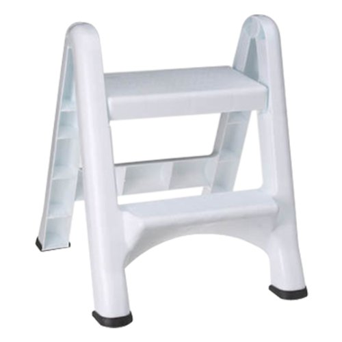 Rubbermaid 4209 EZ Step Folding Stool, 2-Step, White