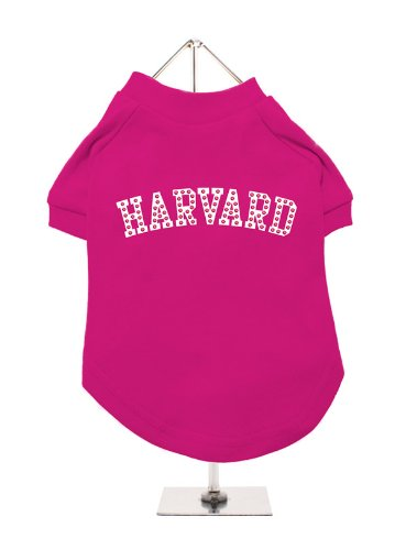 (UrbanPup Legally Blonde ''HARVARD'' Dog T-Shirt (Medium - Dog Body Length: 12