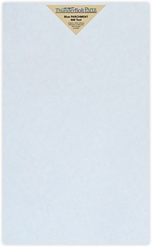 60lb Blue Text - 100 Light Blue Parchment 60# Text (=24# Bond) Paper Sheets - 8.5