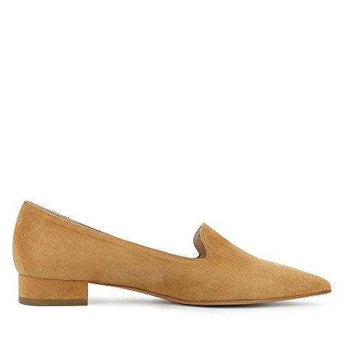 para coñac Mocasines Shoes de mujer Franca Piel Evita xCq6Aw4Zw