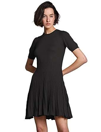 6290665d57 FINCATI Long Sweater Dress Spring Autumn Cashmere Belt Fitted Waist ...