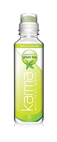 Karma Wellness Water, Passionfruit Green Tea, 18 Ounce (12 (Green Passion Fruit)