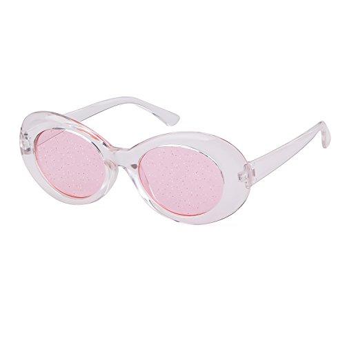 Transparent Soleil A ADEWU Rose Lunettes Goggles Clout de Ovales wwq04a