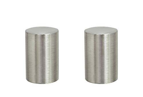 (Aspen Creative 24019-22 Steel Lamp Finial in Brushed Nickel Finish, 1 1/4