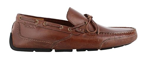 Clarks Leather Tie - CLARKS Men's Ashmont Edge Slip-On Loafer, Cognac, 12 M US