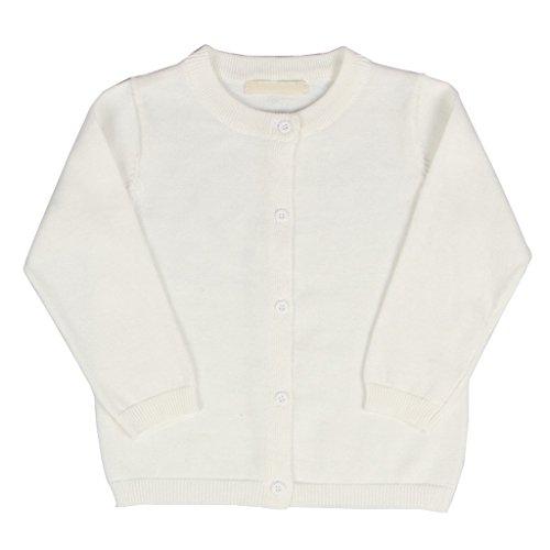 girls cream cardigan - 2