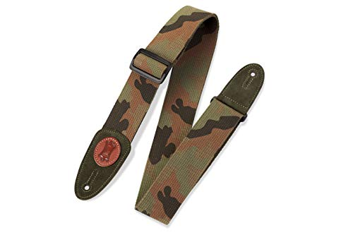 Levy's Leathers MSSC8-CAM Signature Series Cotton Guitar Strap, Camouflage