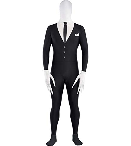 Amscan 844470 Adult Slender-Man Partysuit, up to 5'