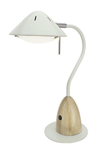 Aspen Creative 40102-1 Dimmable LED Desk Lamp, 7W Modern Design with Wood Grain Finish, 18 1/2'' High, Milky White by Aspen Creative (Image #1)